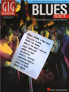 Gig Guide: Blues Set Books and CDs | Guitar, Guitar Tab, Bass Guitar, Drums, Voice, Keyboard