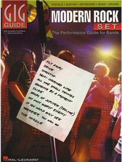 Gig Guide: Modern Rock Set Books and CDs | Guitar, Guitar Tab, Bass Guitar, Drums, Voice, Keyboard