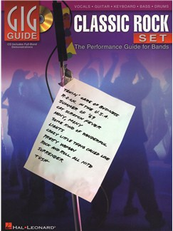 Gig Guides: Classic Rock Set Books and CDs | Guitar, Bass Guitar, Drums, Voice, Keyboard