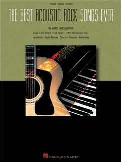 The Best Acoustic Rock Songs Ever Books | Piano, Vocal & Guitar