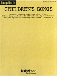 Budget Books: Children's Songs Livre | Piano, Chant et Guitare