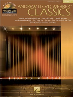 Piano Play-Along Volume 52: Andrew Lloyd Webber Classics (Book And CD) Books and CDs | Piano