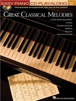 Great Classical Melodies - Easy Piano CD et Livre | Piano