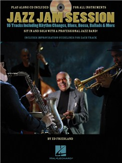 Ed Friedland: Jazz Jam Session Books and CDs | Treble Clef Instruments, Guitar, Keyboard, Saxophone, Trumpet