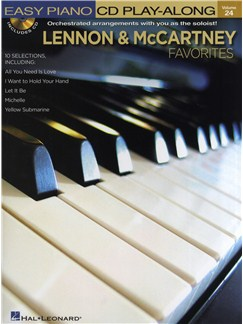 Easy Piano CD Play-Along Volume 24: Lennon And McCartney Favourites Books and CDs | Piano
