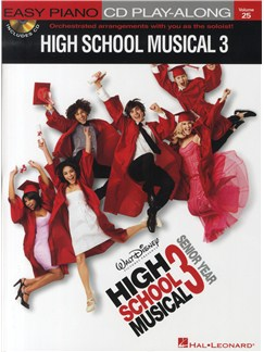 Easy Piano CD Play-Along Volume 25: High School Musical 3 (Book/CD) Books and CDs | Piano
