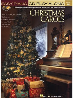 Easy Piano CD Play-Along Volume 28: Christmas Carols Books and CDs | Piano