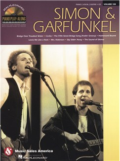Piano Play-Along Volume 108: Simon & Garfunkel CD et Livre | Piano, Chant et Guitare