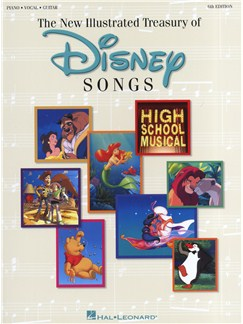 The New Illustrated Treasury Of Disney Songs: 6th Edition Books | Piano, Vocal & Guitar (with Chord Symbols)