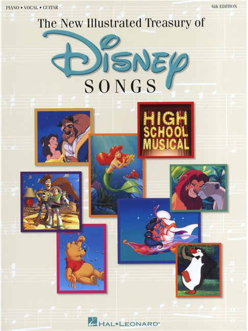 The New Illustrated Treasury Of Disney Songs: 6th Edition - Piano ...