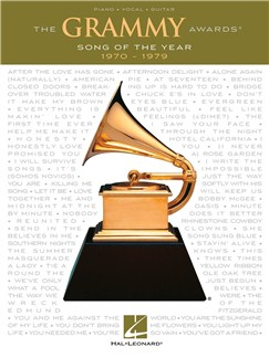 The Grammy Awards: Song Of The Year 1970-1979 Books | Piano, Vocal & Guitar