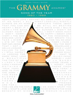 The Grammy Awards: Song Of The Year 1980-1989 Books | Piano, Vocal & Guitar