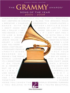 The Grammy Awards: Song Of The Year 2000-2009 Books | Piano, Vocal & Guitar