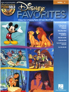 Beginning Piano Solo Play-Along Volume 1: Disney Favourites Books and CDs | Piano