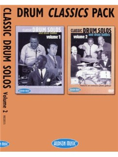 Drum Classics Pack - Classic Drum Solos And Drum Battles Vol. 1 And 2 DVDs / Videos | Drums