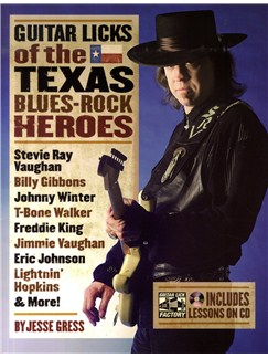 Guitar Licks Of The Texas Blues Rock Heroes Books and CDs |