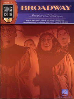 Sing With The Choir Volume 2 : Broadway (Book And CD) Books and CDs | SATB