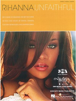 Rihanna: Unfaithful (PVG) Livre | Piano, Chant et Guitare