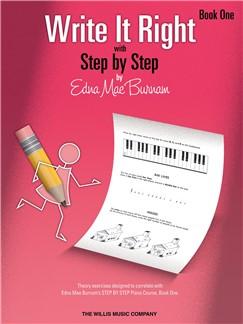 Edna Mae Burnam: Write It Right - Book 1 Books | Piano