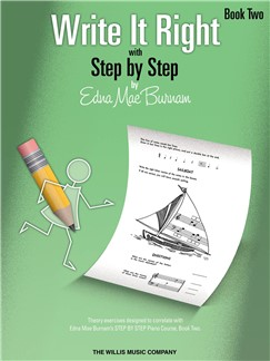 Edna Mae Burnam: Write It Right - Book 2 Books | Piano