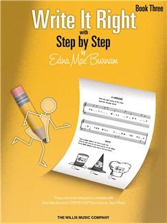 Edna Mae Burnam: Write It Right - Book 3 Books | Piano