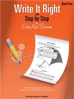 Edna Mae Burnam: Write It Right - Book 5 Books | Piano