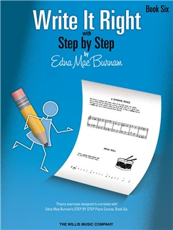 Edna Mae Burnam: Write It Right - Book 6 Books | Piano
