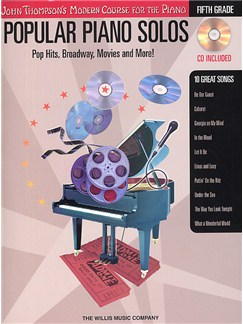 John Thompson's Modern Piano Course: Popular Piano Solos - Fifth Grade (Book and CD) Books and CDs | Piano