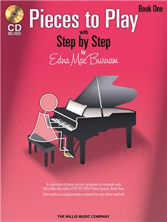 Edna Mae Burnam: Step By Step Pieces To Play - Book 1 Books and CDs | Piano