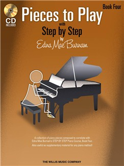 Edna Mae Burnam: Step By Step Pieces To Play - Book 4 Books and CDs | Piano