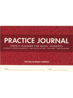 Practice Journal - Weekly Planner For Music Students Books |