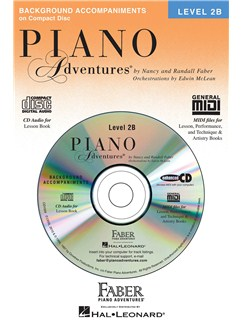 Nancy & Randall Faber: Piano Adventures® Lesson Book CD Level 2B CDs | Piano