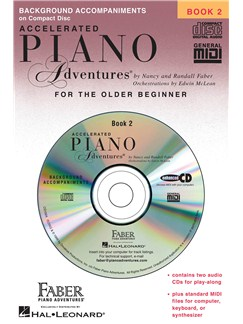 Nancy & Randall Faber: Accelerated Piano Adventures® Lesson Book 2 - CD CDs | Piano