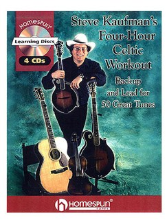 Steve Kaufman's Four Hour Celtic Workout (Book And 4 CDs) Books and CDs | Bass Guitar, Guitar, Mandolin