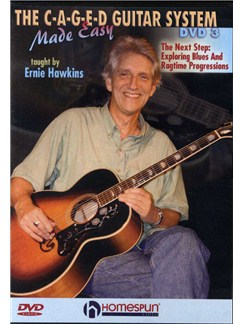 Ernie Hawkins: The C-A-G-E-D Guitar System Made Easy - DVD 3 DVDs / Videos | Guitar