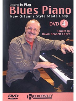 Learn To Play Blues Piano: New Orleans Style Made Easy 4 (DVD) DVDs / Videos | Piano