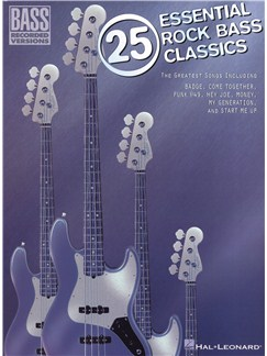 25 Essential Rock Bass Classics Books | Bass Guitar, Bass Guitar Tab