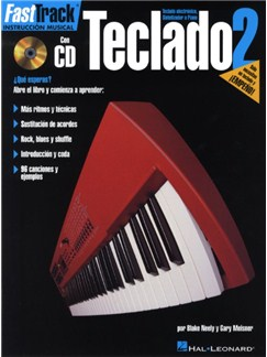 Fast Track Teclado 2 Keyboard (Book/Cd Spanish Edition) CD y Libro | Teclado