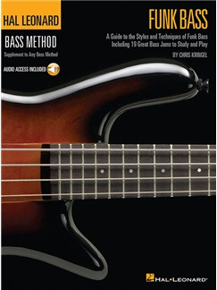 Hal Leonard Bass Method: Funk Bass (Book/Online Audio) Books and Digital Audio | Bass Guitar Tab