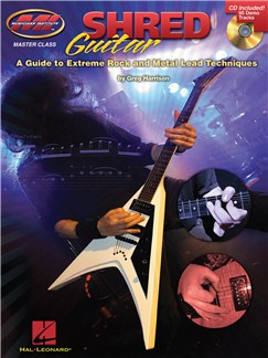 Greg Harrison: Shred Guitar - A Guide To Extreme Rock And Metal Lead Techniques Books and CDs | Guitar Tab, Guitar
