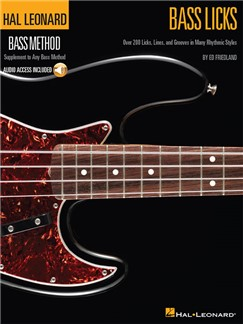 Hal Leonard Bass Method: Bass Licks (Book/Online Audio) Books and Digital Audio | Bass Guitar