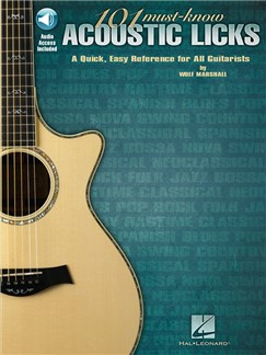 Wolf Marshall: 101 Must-Know Acoustic Licks (Book/Online Audio) Buch und Digitale Audio | Gitarre