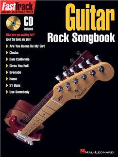 FastTrack Guitar Rock Songbook Books and CDs | Guitar Tab, Guitar