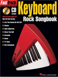 FastTrack Keyboard Rock Songbook Books and CDs | Keyboard