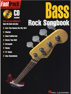 FastTrack Bass Rock Songbook Books and CDs   Bass Guitar