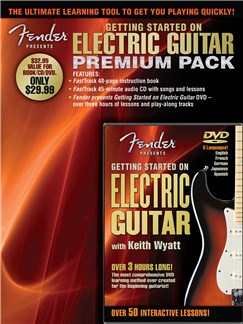 Fender Presents: Getting Started On Electric Guitar – Premium Pack Books, CDs and DVDs / Videos | Electric Guitar