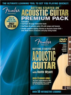 Fender Presents: Getting Started On Acoustic Guitar – Premium Pack Books, CDs and DVDs / Videos | Acoustic Guitar
