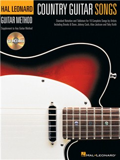Hal Leonard Guitar Method: Country Guitar Songs CD et Livre | Tablature Guitare