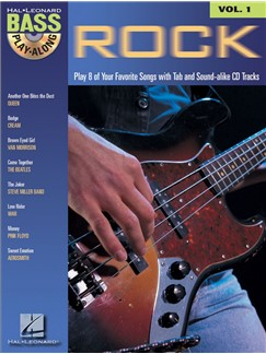 Hal Leonard Bass Play-Along Volume 1: Rock (Book/CD) Books and CDs | Bass Guitar