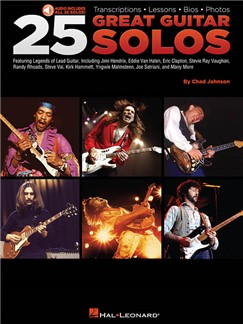 Chad Johnson: 25 Great Guitar Solos (Book/Online Audio) Books and Digital Audio | Guitar Tab